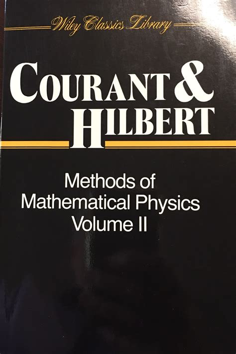 Methods Of Mathematical Physics Volume 2 Courant Richard Hilbert D