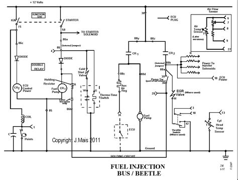 mexican vw beetle wiring diagram