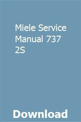 Miraculous Miele Service Manual 737 2S Epub Pdf Wiring Digital Resources Funapmognl