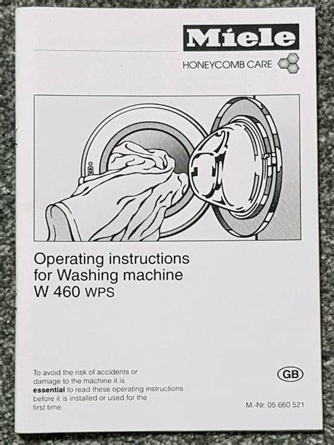 Miele W460 Service Manual (ePUB/PDF)