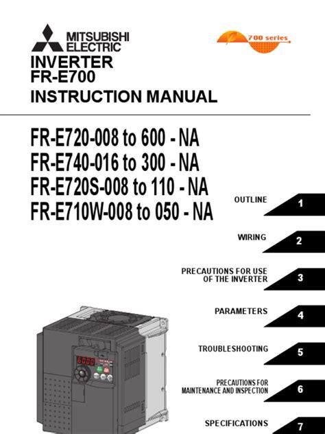 Mitsubishi E700 Manual (ePUB/PDF)