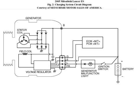mitsubishi electric alternator wiring diagram
