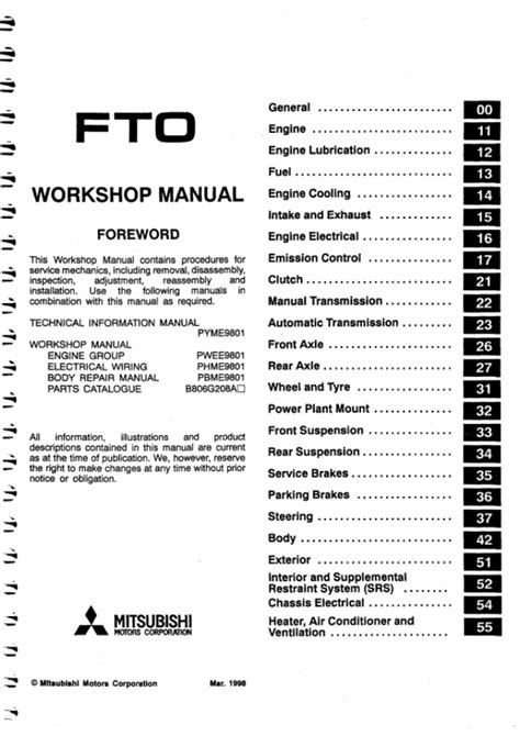 Mitsubishi Fto Service Repair Manual Pdf 94 98 (ePUB/PDF)