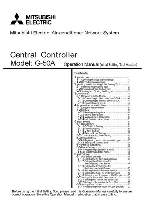 Mitsubishi G50a Manual (ePUB/PDF) Free