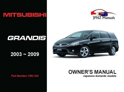 Mitsubishi Grandis Owners Manual (ePUB/PDF)