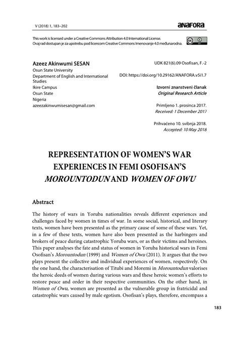 Moruntodun By Femi Osofisan (ePUB/PDF)