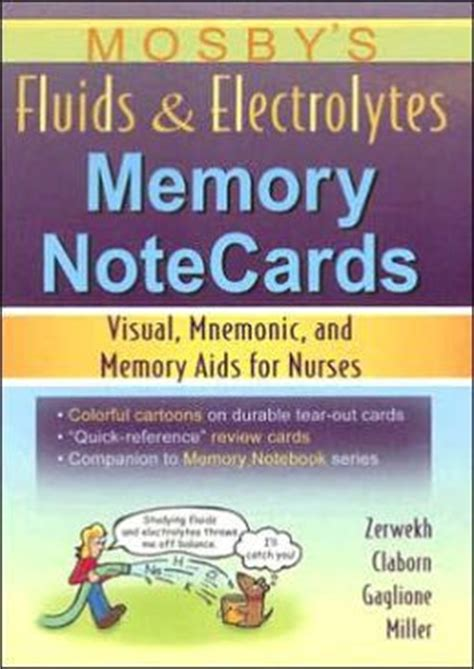 Mosbys Fluids Electrolytes Memory Notecards Visual Mnemonic And Memory Aids For Nurses