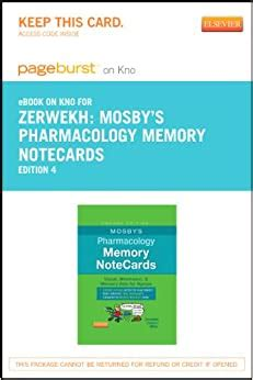 Mosbys Pharmacology Memory NoteCards Elsevier EBook On Intel Education Study Retail Access Card Visual Mnemonic And Memory Aids For Nurses