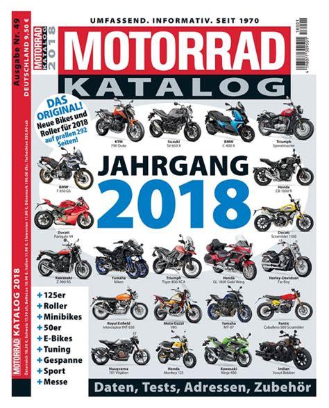 Motorrad Katalog 2018 (ePUB/PDF)