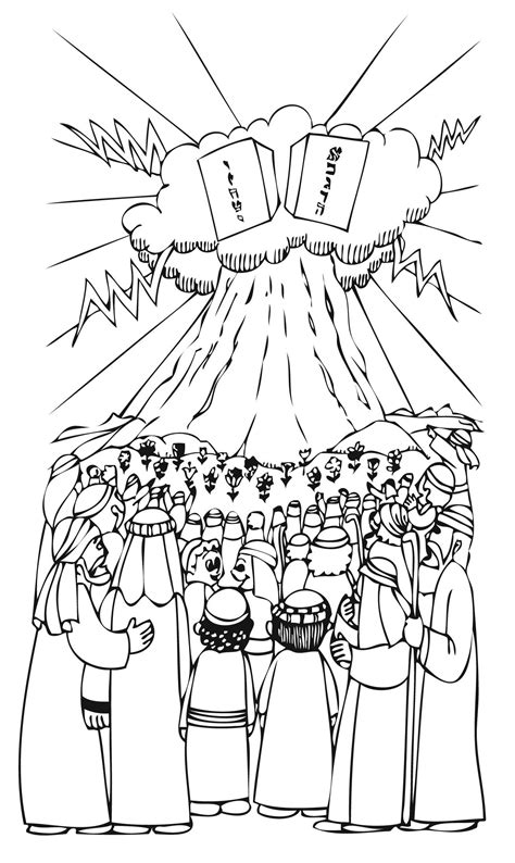Mountain Sanai Coloring Pages