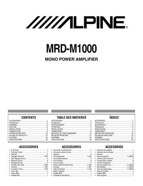 Mrp M1000 Manual (ePUB/PDF) Free