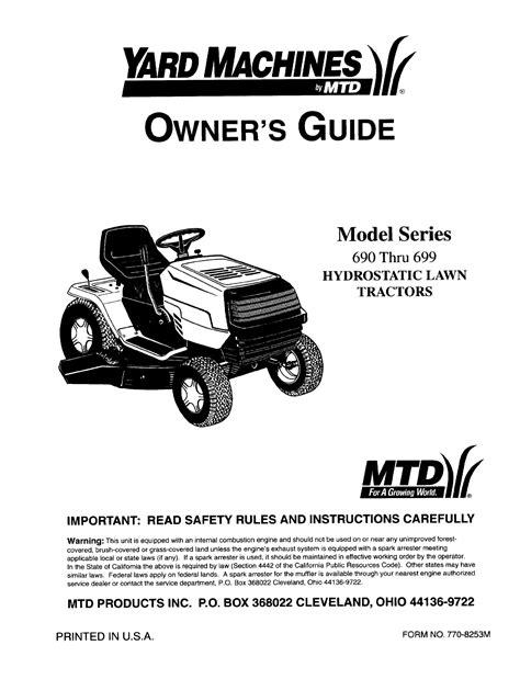 Mtd Manual Pdf (ePUB/PDF) Free