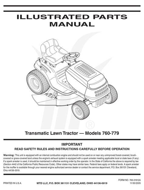 Mtd Spare Parts Manual (ePUB/PDF) Free