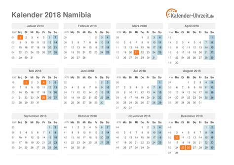 Namibia Kalender 2018 (ePUB/PDF)