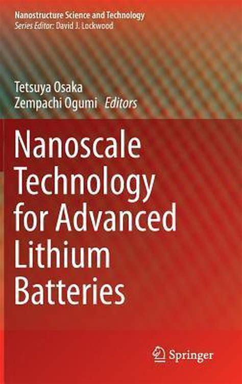 buy popular b38a1 761aa Nanoscale Technology For Advanced Lithium Batteries Osaka Tetsuya Ogumi  Zempachi