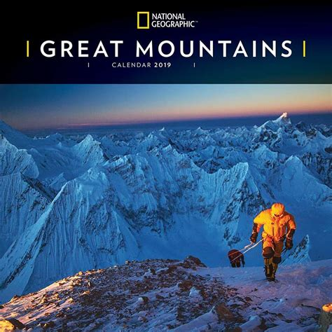 National Geographic Great Mountains 2019 Calendar