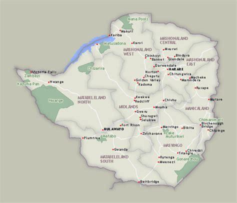National Parks Of Zimbabwe Gps Taugliche Nationalparkkarten Mit ...