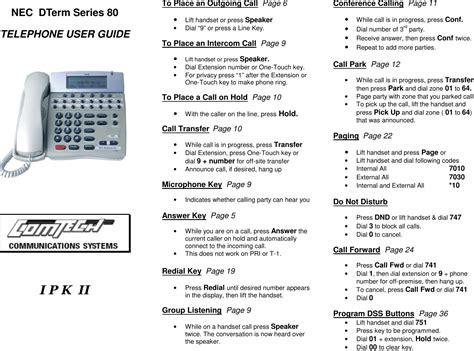 Nec Dterm User Manual (ePUB/PDF) Free