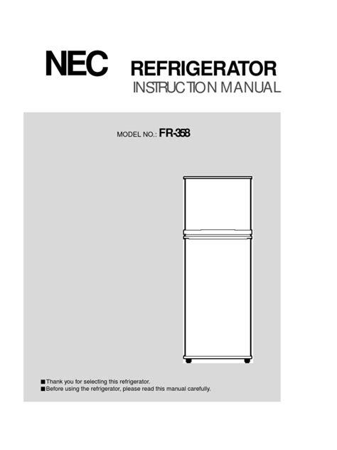 Nec Refrigerator Manual (ePUB/PDF)