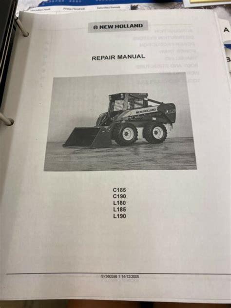 New Holland C185 Manual (ePUB/PDF)