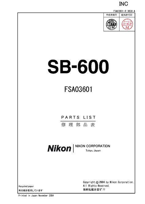Nikon Sb600 Manual ePUB/PDF