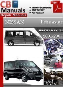 Nissan Primastar Full Service Repair Manual 2001 2007 (ePUB/PDF)