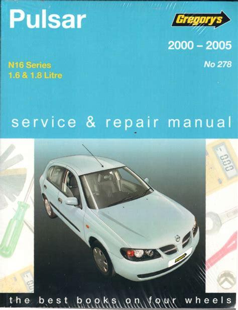 Nissan Pulsar 2000 Repair Manual (ePUB/PDF)