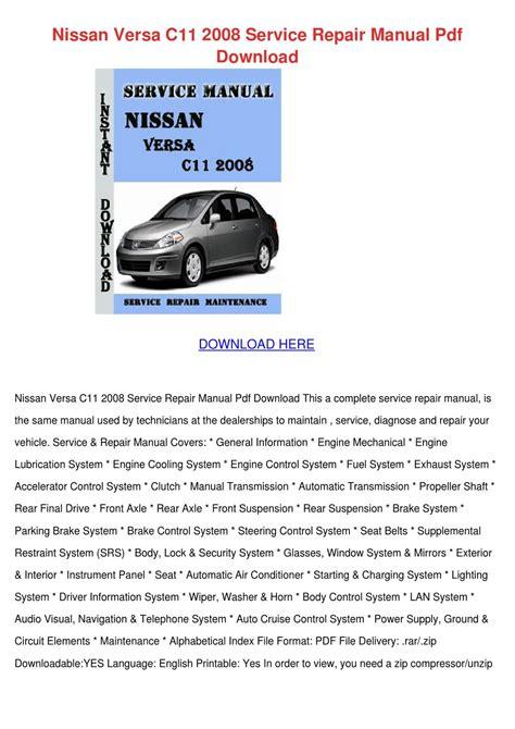 Nissan Tiida Repair Manual (ePUB/PDF)
