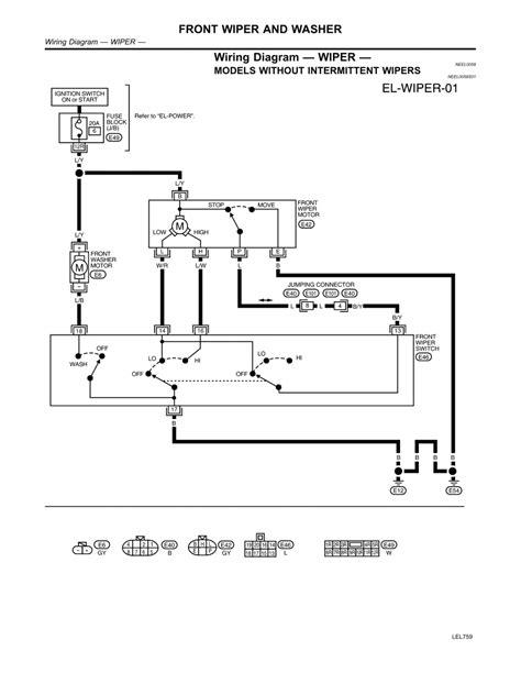 nissan wiper motor wiring diagram