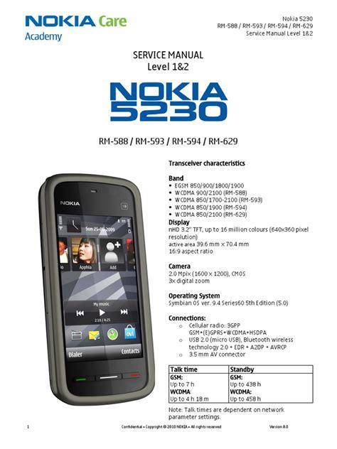 Nokia 5230 Repair Manual (Free ePUB/PDF)