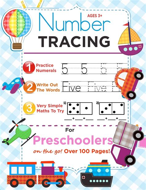 Number Tracing Book For Preschoolers And Kids Ages 35 Trace Numbers Practice Workbook For Pre K Kindergarten And Kids Ages 35 Math Activity Book