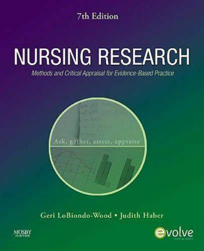 Nursing Research Methods And Critical Appraisal For Evidence Based Practice 9e