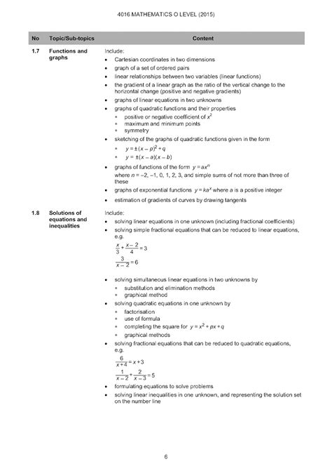 O Level Maths Syllabus Zambia (ePUB/PDF) Free