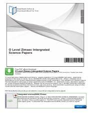 Olevel Intergrated Science Notes (ePUB/PDF)