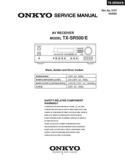 Onkyo Tx Sr500 Manual (ePUB/PDF) Free