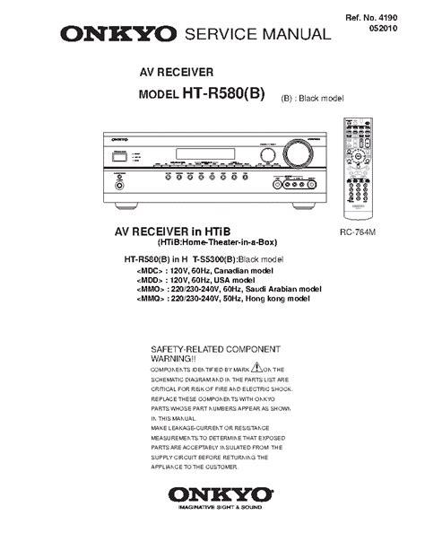 Onkyo Tx Sr606 Instruction Manual (ePUB/PDF)