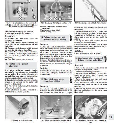 Opel Corsa Repair Manual Free (ePUB/PDF)