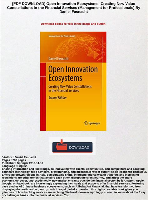 Open Innovation Ecosystems Creating New Value Constellations In The Financial Services Management For Professionals