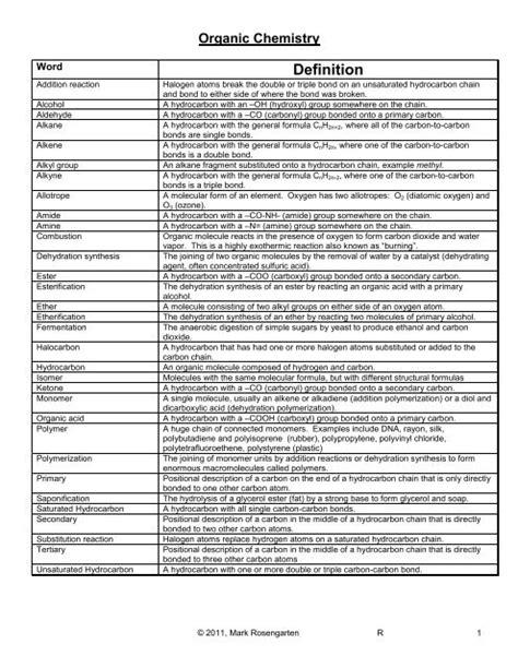 Organic Chemistry Mark Rosengarten Answers (ePUB/PDF) Free