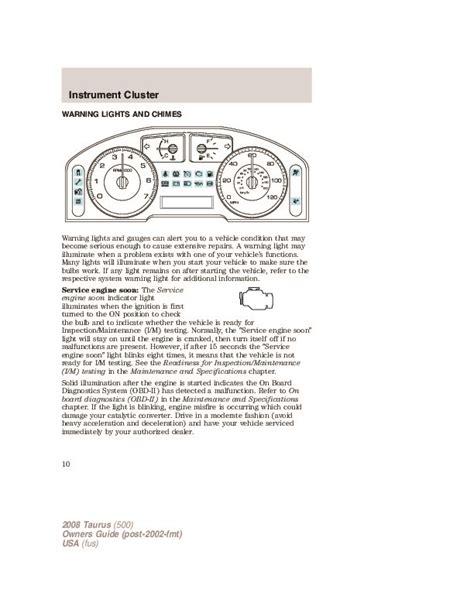 Owners Manual Ford Taurus 2008 (ePUB/PDF) Free