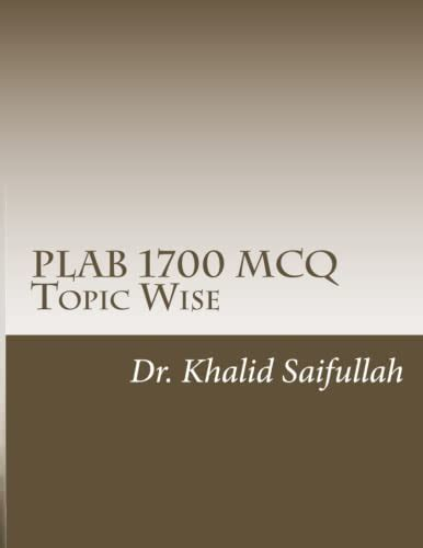PLAB 1700 MCQs Topic Wise