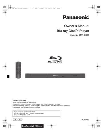 Panasonic Bd75 Manual (Free ePUB/PDF) on