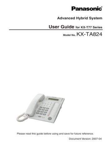 Panasonic Kx Ta824 User Manual (ePUB/PDF)