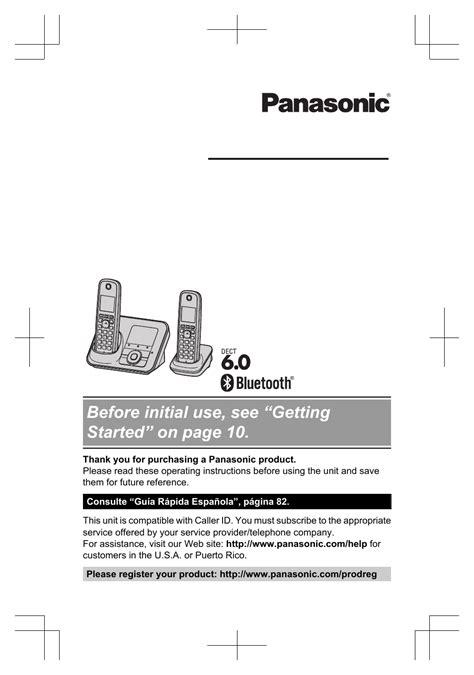 Panasonic Model Owners Manual (ePUB/PDF)