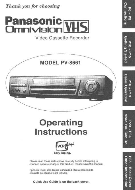 Panasonic Pvr Manuals (ePUB/PDF) Free