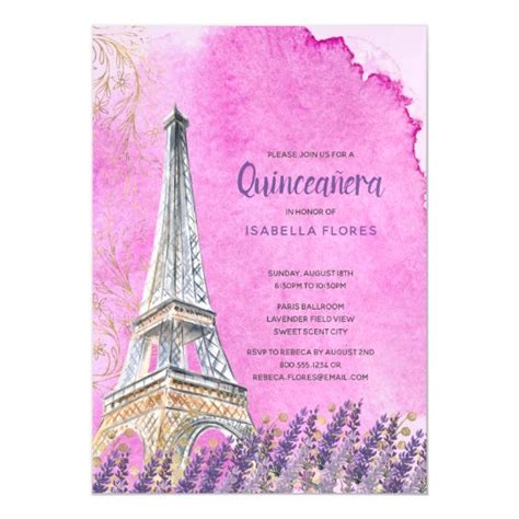 Paris Themed Quinceanera Gifts on Zazzle