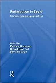 Participation In Sport Houlihan Barrie Nicholson Matthew Hoye ...