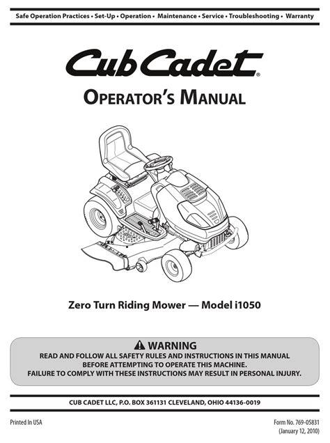 Parts Manual Cub Cadet (ePUB/PDF) Free