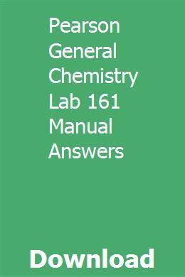 Pearson General Chemistry Lab Manual Answers (ePUB/PDF)