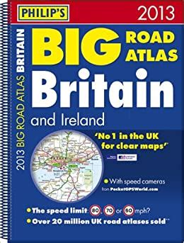 Philips Big Road Atlas Britain And Ireland 2017 Spiral By ...